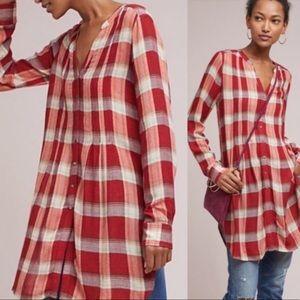 Anthro Akemi + Kin Plaid Long Sleeve Tunic Dress